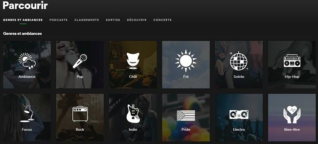 Parcourir Spotify