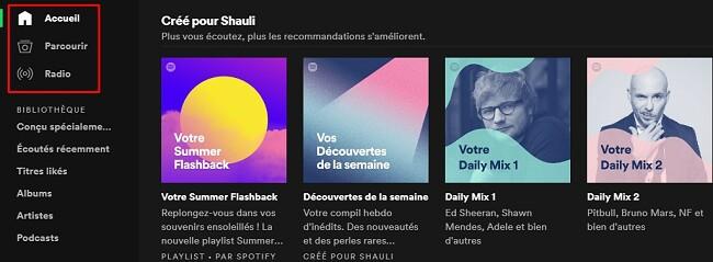 Mix quotidien Spotify