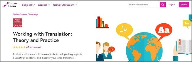 Screenshot of a translation course on Future Learn