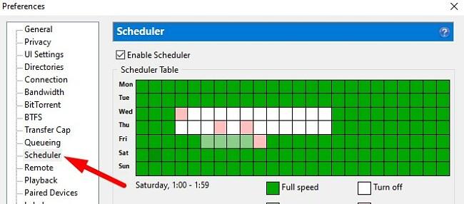 BitTorrent Scheduler