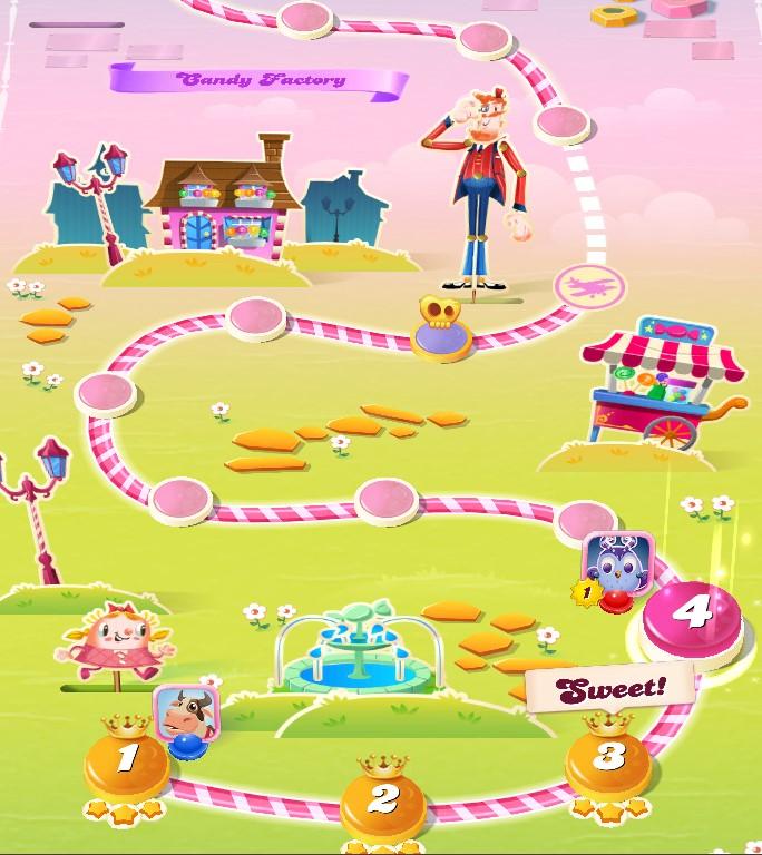 Candy Crush map