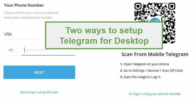 Connect Telegram for Desktop