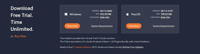 Download FL Studio trial