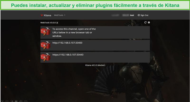 Captura de pantalla de la aplicación Kitana para Plex.