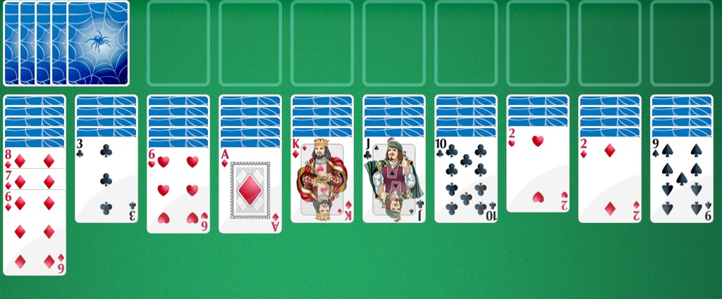 Moving cards in spider solitaire