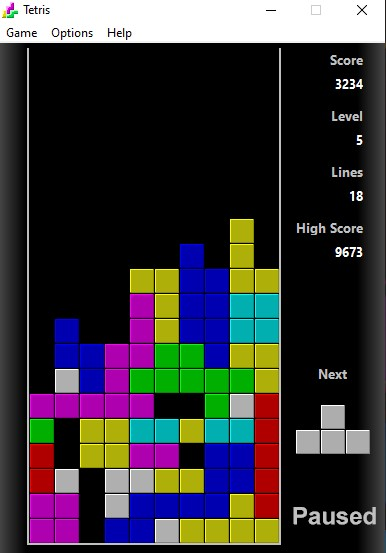 Tetris Game Play