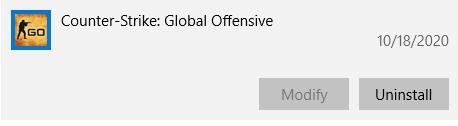 قم بإلغاء تثبيت Counter Strike