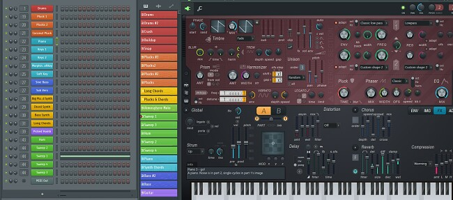 Using the piano instrument with FL Studio