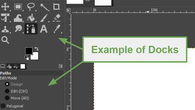 example of Docks in GIMP