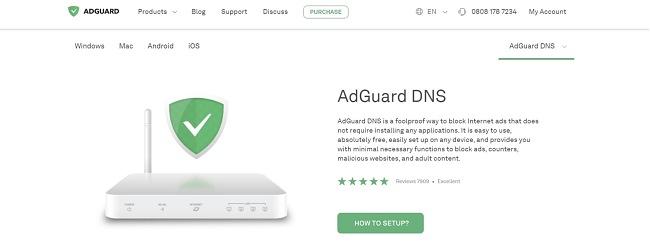 Screenshot of AdGuard web page.