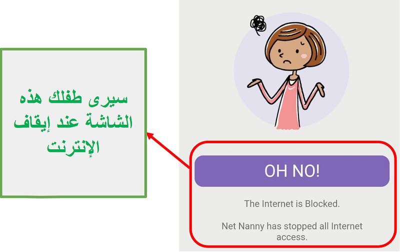Net Nanny bloque الإنترنت
