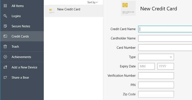 Adding a credt card