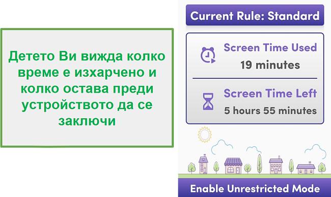 Net Nanny управлява времето на екрана