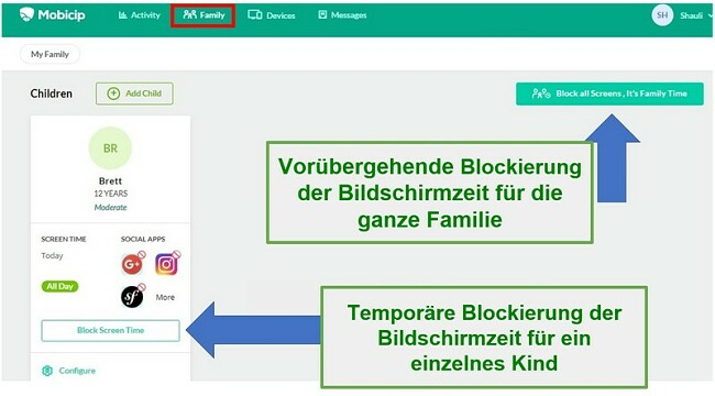 Mobicip blockiert alle Geräte