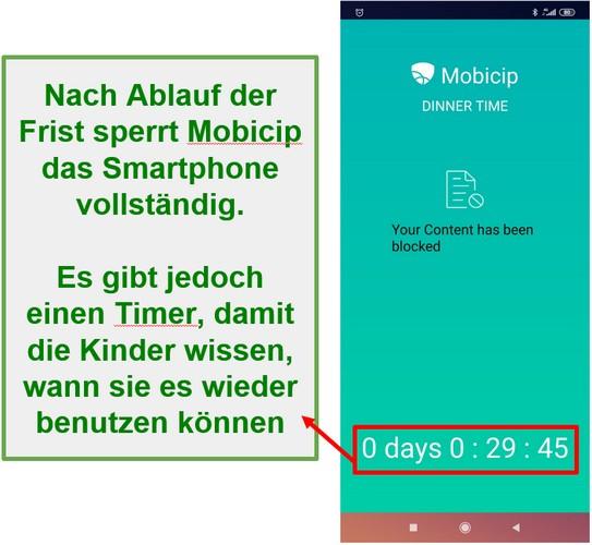 Mobicip blockiert ein Gerät