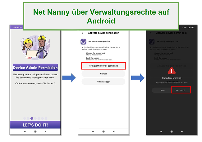 Net Nanny Admin-Rechte
