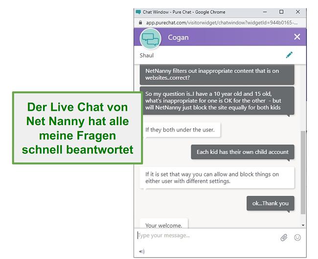 Net Nanny Kundenservice