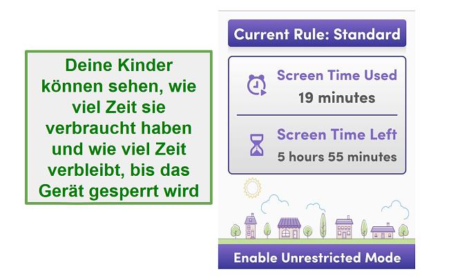 Net Nanny verwalten Bildschirmzeit