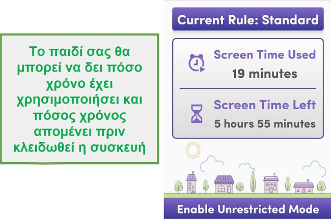 Η Net Nanny διαχειρίζεται τον χρόνο της οθόνης