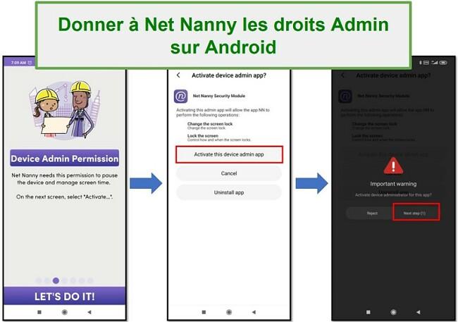 Droits d'administrateur Net Nanny