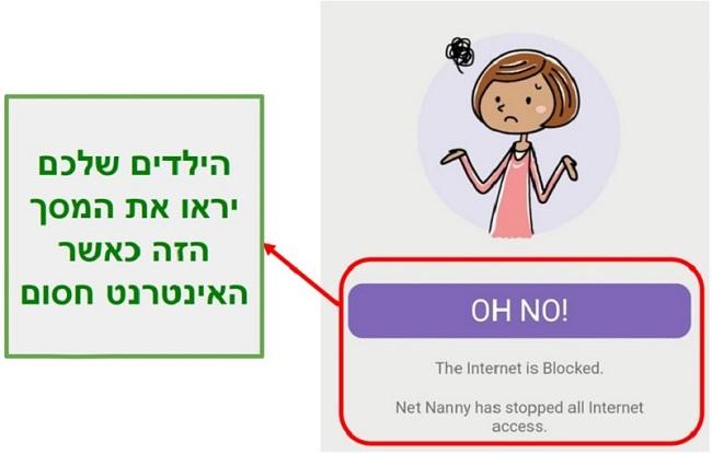 מטפלת נטו חוסמת את האינטרנט