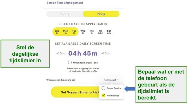 Net Nanny Screen Time Management