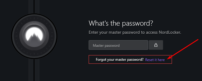 Нулирайте основната парола на NordLocker