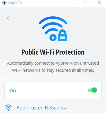 VyprVPN Public wifi protection