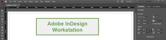 Adobe InDesign workstation