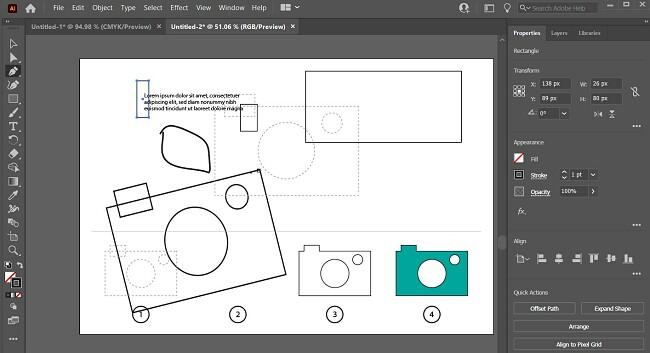 Illustrator Interface