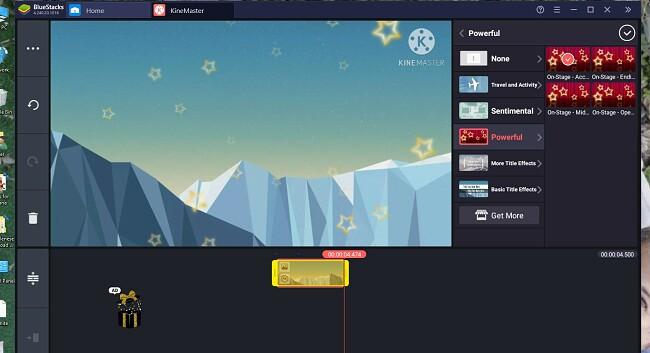 Kinemaster för PC-gränssnitt