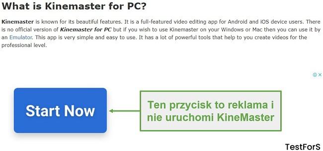 Nie klikaj Ad KineMaster