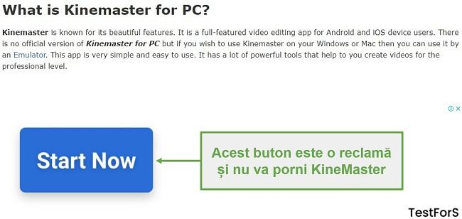Nu faceți clic pe Ad KineMaster