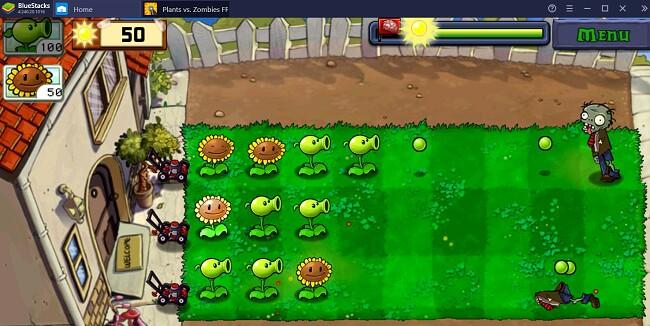 Zombies vs Plants on Bluestacks