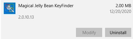 Uninstall Magical Jelly Bean KeyFinder