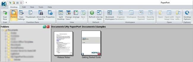paperport UI
