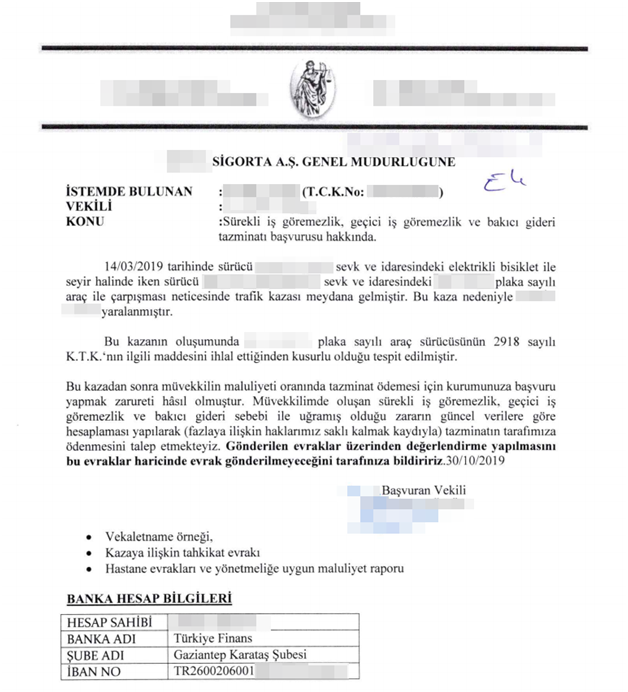 Screenshot of the Insurance document