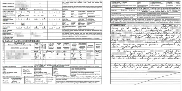 Data Breach - Police report containing accident details