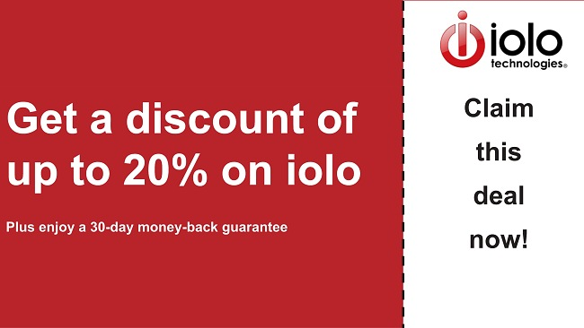 iolo antivirus coupon with up to 20% off all plans and 30-day money-back guarantee