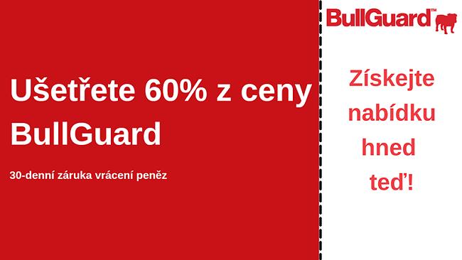 Antivirový kupón BullGuard se 60% slevou a 30denní zárukou vrácení peněz