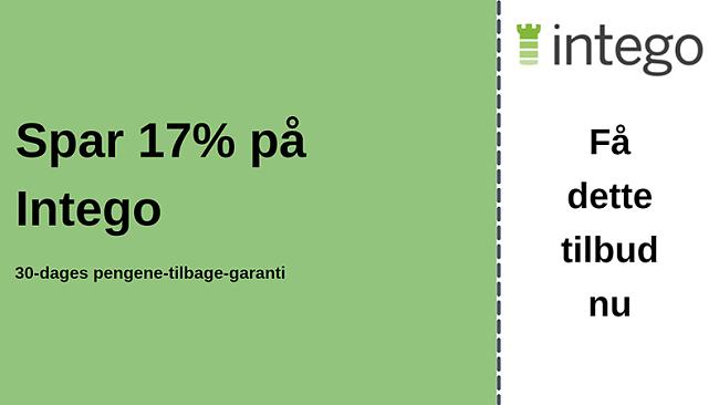 Intego antivirus-kupon med 17% rabat og 30-dages pengene-tilbage-garanti