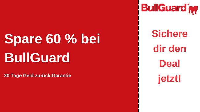 BullGuard Antivirus-Gutschein mit 60% Rabatt und 30-tägiger Geld-zurück-Garantie