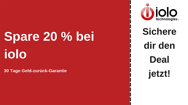 iolo Antivirus-Gutschein mit bis zu 20% Rabatt auf alle Pläne und 30-tägiger Geld-zurück-Garantie
