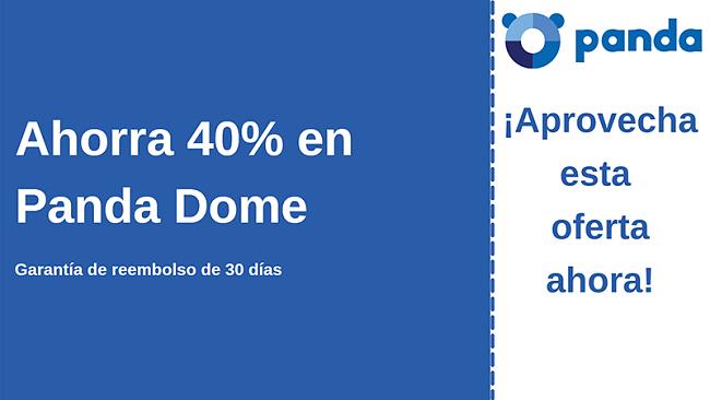 Cupón de Panda antivirus con 40% de descuento y garantía de devolución de dinero de 30 días