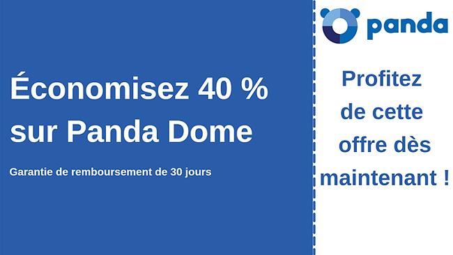 Coupon antivirus Panda avec 40% de réduction et garantie de remboursement de 30 jours