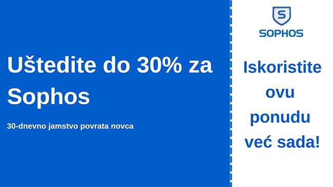 Sophos antivirusni kupon s 30% popusta i 30-dnevnim jamstvom povrata novca
