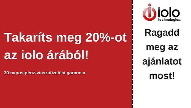 iolo víruskereső kupon, akár 20% kedvezménnyel minden tervből és 30 napos pénz-visszafizetési garancia