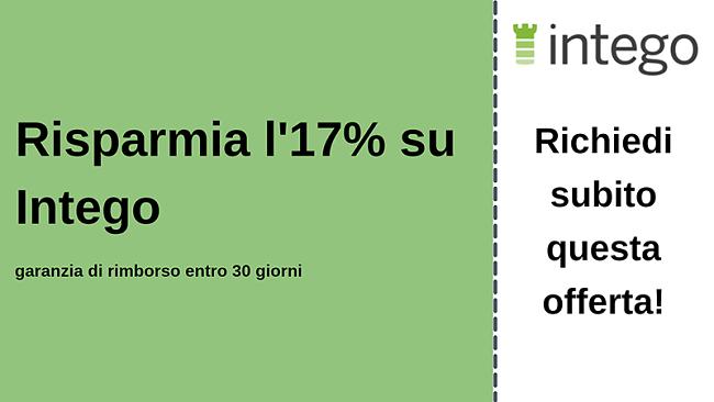 Coupon antivirus Intego con sconto del 17% e garanzia di rimborso di 30 giorni