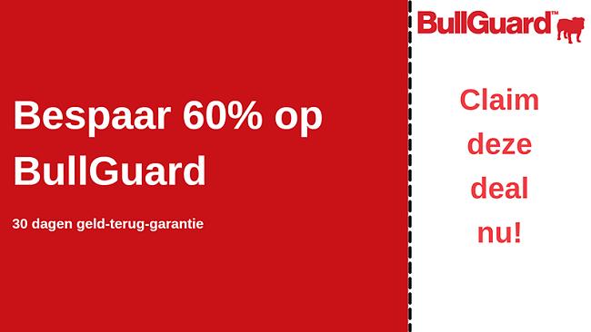 BullGuard-antiviruscoupon met 60% korting en 30 dagen geld-terug-garantie