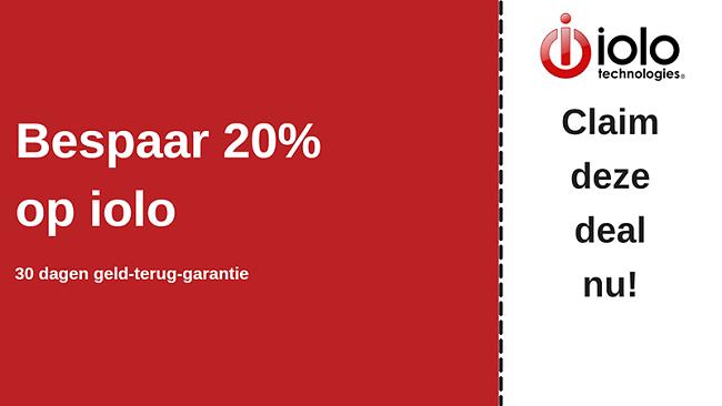 iolo antivirus kortingsbon met tot 20% korting op alle abonnementen en 30 dagen geld-terug-garantie
